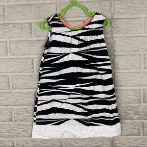 Gymboree Girls Size 5 Zebra Print Shift Dress